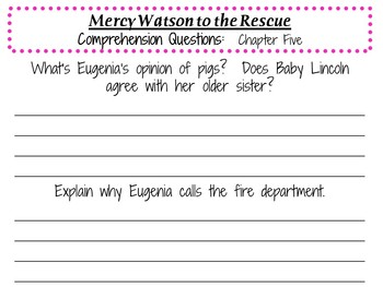 Mercy Watson to the Rescue by Kate DiCamillo:  A Complete Literature Study!
