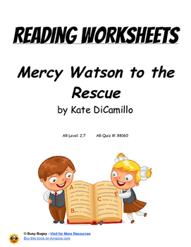 Mercy Watson to the Rescue by Kate DiCamillo   Reading Worksheets