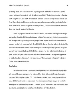 Mere Christianity Book Summary
