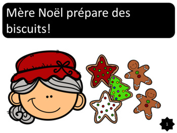 Mère Noël prépare des biscuits