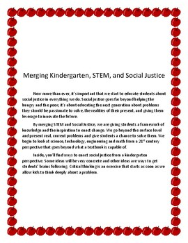 Merging Kindergarten, STEM, and Social Justice