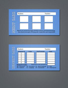 Merit / Demerit Cards - Box of 1,000