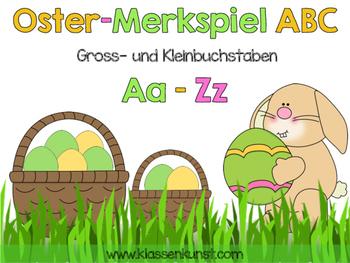 Merkspiel Gross- und Kleinbuchstaben Ostern