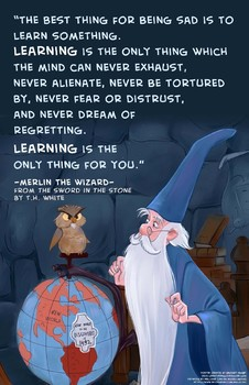 Merlin the Wizard Quote Poster by Zachary Hamby | TpT