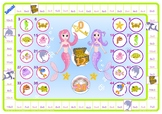 Mermaid 3 and 4 Times Table Game
