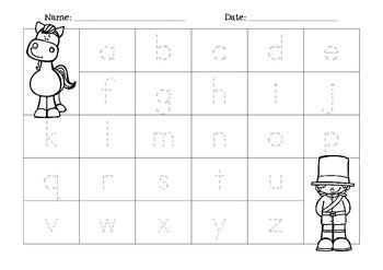 Alphabet Placemats { freebie }