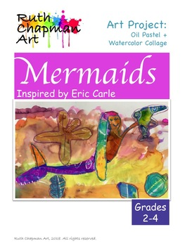 Mermaids Art Lesson for Grades 2-4