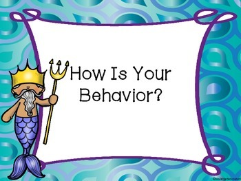 Mermaid Behavior Clip Chart