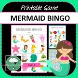 Mermaid Bingo - Cute Mermaids Themed Bingo Game for Presch