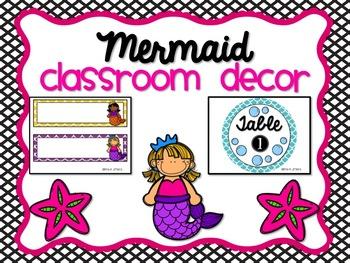 Mermaid Classroom Decor
