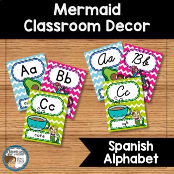 Mermaid Classroom Decor Spanish Alphabet