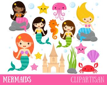 Mermaid Clip Art, Mermaids Printable