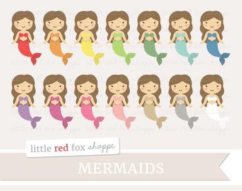 Mermaid Clipart; Ocean, Sea, Mythical