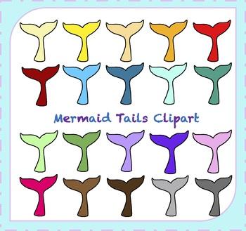 Mermaid Clipart / Mermaid Tail Clipart / Ocean Clipart