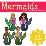Mermaid Clipart Set