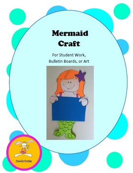 Mermaid Craft - Decorative Display for Bulletin Boards, Student Work, or Art