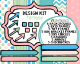Mermaid Design Kit - Cover Page Templates - Planner Templates