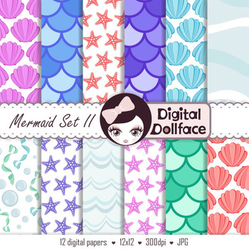 Mermaid Digital Paper