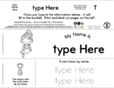 Mermaid - Editable Name Booklet with Beginning Letter Feat