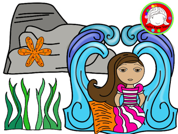 Mermaid Fairy Tale Clipart Set (Personal & Commercial Use)