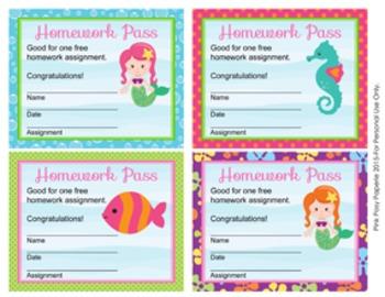 Mermaid Homework Passes