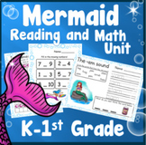 Mermaid Kindergarten 1st Grade Math Reading and Writing Unit