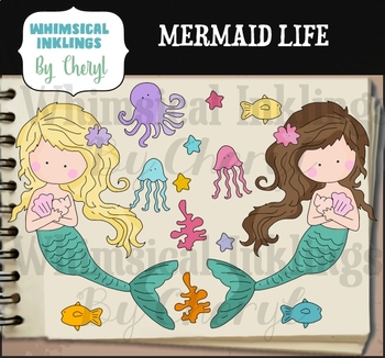 Mermaid Life Clipart Collection