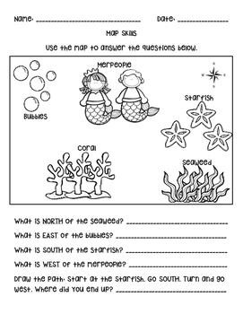 Mermaid Map Skills