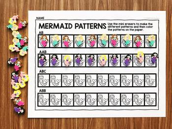 Mermaid Mini Eraser Activities