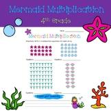 Mermaid Multiplication - 4th Grade