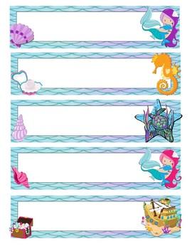 Mermaid Name Tags/Plates