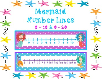 Mermaid Number Lines       0 - 10 & 0 - 20