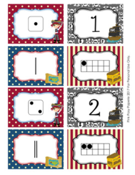 Pirate Numbers 1-10 Match Activity