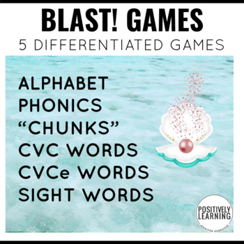 Mermaid Phonics and Sight Word Blast Game