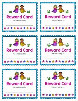 Reward Card {Mermaid}