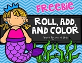 Mermaid Roll, Add, and Color!
