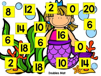 Mermaid Roll and Cover Fluency Games