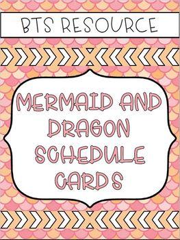 Mermaid Schedule Cards