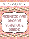 Mermaid Schedule Cards