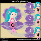 Mermaid & Shell Alphabet Movable Pieces