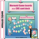 Mermaid Speech Therapy: CVC game cards AND board games