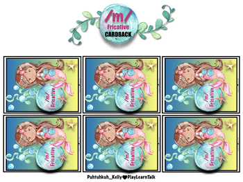 Mermaid Speech Therapy: CVCV game cards AND board games