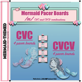 Mermaid Speech Therapy: /m/ CVC & CVCV Pacer Boards