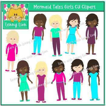 Mermaid Tales Girls Clipart