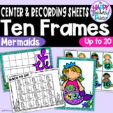 Mermaid Ten Frames 0-20 ~Perfect for Mini-Erasers!