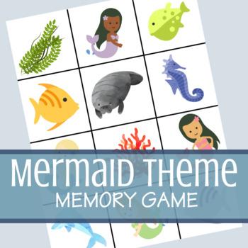 Mermaid Theme Classic Memory Card Game