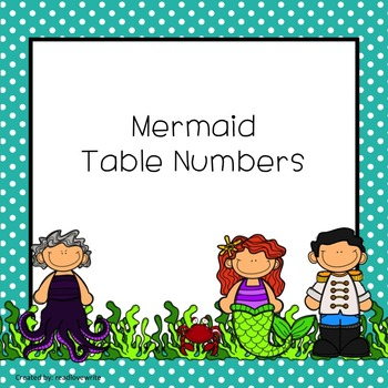 Mermaid Theme Table Labels Numbers and Colors