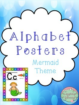 Mermaid Themed Alphabet Posters