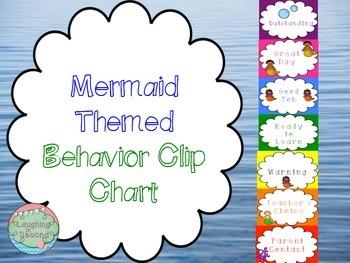 Mermaid Themed Behavior Clip Chart