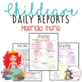 Mermaid Themed Childcare Daily Reports  (Daycare)